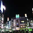 渋谷駅前の夜景