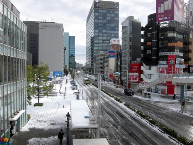 雪の品川駅周辺5