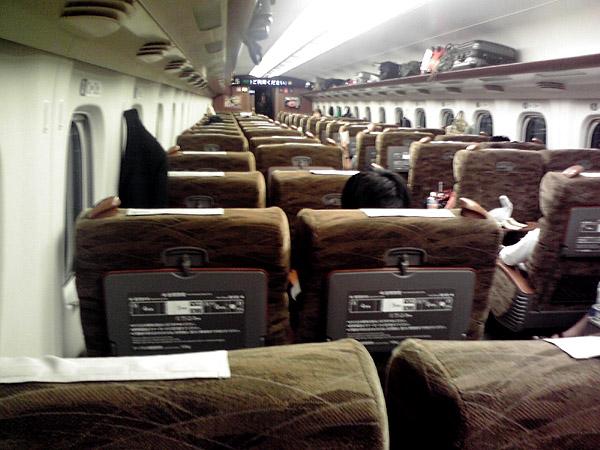 九州新幹線 みずほ の車内